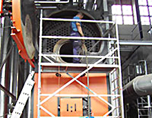 Holzkessel-Elektrofilter- Holzhackschnitzelkessel-Reinigung KAWE