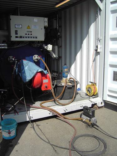 Schnelldampferzeuger chemische Reinigung