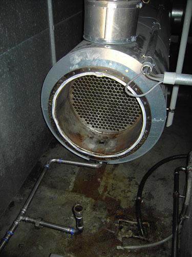 Abgaswärmetauscher nach Reinigung