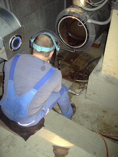 Abgaswärmetauscher Reinigung